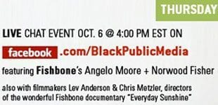 Tune in today for a PBS live chat with Fishbone!