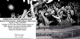 Fishbone's Angelo Moore collabs with Nikki Lund for Fashion Week!